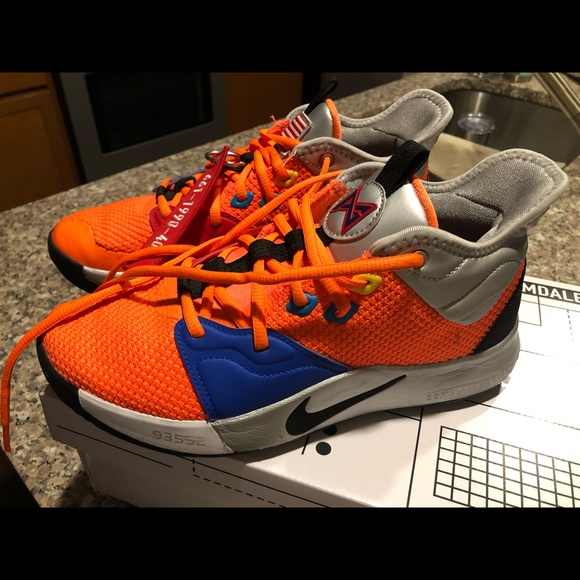 another chance 55c65 82a34 Nike PG3 NASA men's shoes.